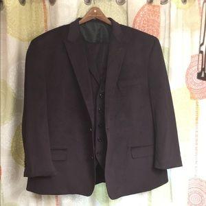 Sean Jean, 3 piece suit, velvet purple